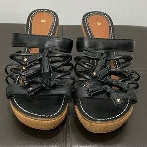 Anthro Leifsdottir Black Olli Sandals Size 40